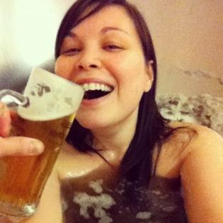 אמבטיה של בירה